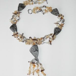 Jewelry - Crazy Lace Marble, agate necklace, new (#723)